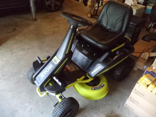"2020 Ryobi RM380 30"" 50 amp hour mower."