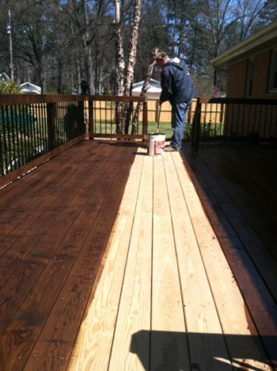 Dark Walnut Exterior Wood Stain And Sealer 525 At The Home Depot