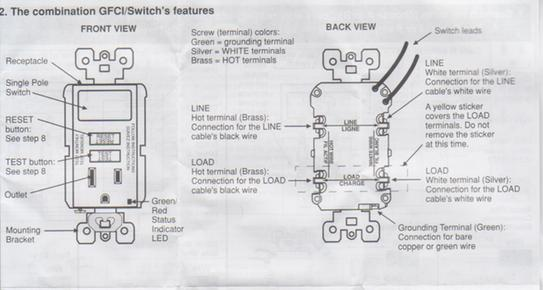 cooper gfci switch combo wiring diagram