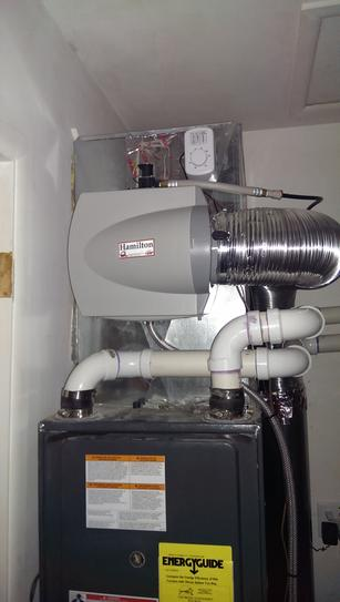 Hamilton Whole House Furnace Mount Flow Through Humidifier 12hf At The Home Depot Mobile