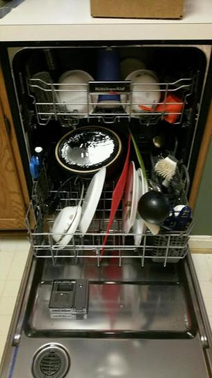 KitchenAid Top Control Tall Tub Dishwasher in Stainless Steel with