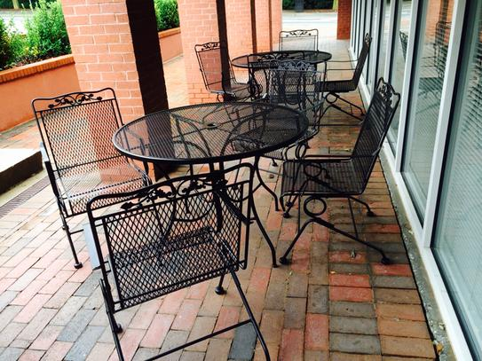 Arlington House Glenbrook Black 5 Piece Patio Dining Set