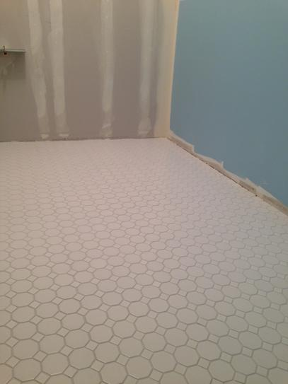 Daltile Matte White 12 In X 6 Mm Ceramic Octagon Dot Mosaic Tile 10 Sq Ft Case 65012oct01cc1p2 At The Home Depot Mobile