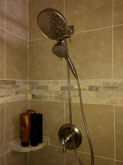 MOEN Attract 6-Spray Hand Shower and Shower Head Combo Kit with ...