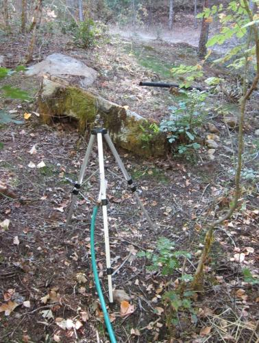 Great for steep terrain - notice some legs are placed longer and shorter