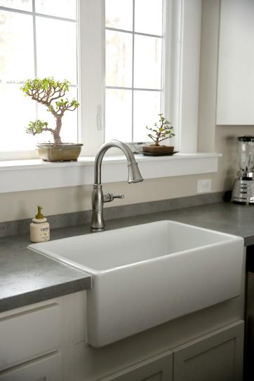 Ordinaire Pegasus Farmhouse Apron Front Fireclay 30 In. Single Bowl Kitchen Sink In  White FS30 At The Home Depot   Mobile