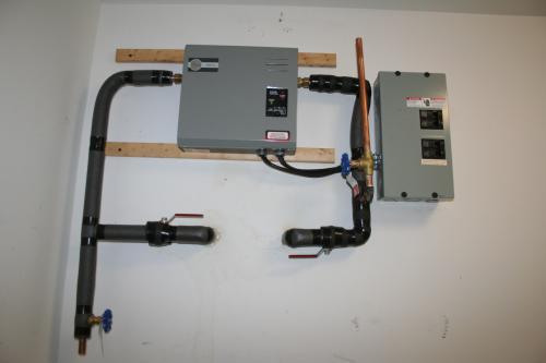 Rheem Rete 27 27kw 4 1 Gpm Tankless Electric Water Heater Rete 27