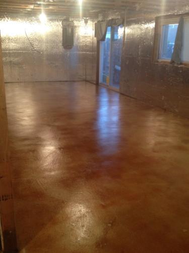 Basement Acid Stained Floor # 1