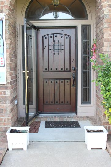Main Door 30 in. x 80 in. Rustic Mahogany Type Unfinished Solid Wood ...