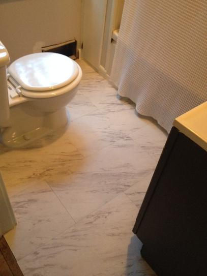 TrafficMASTER Carrara Marble 12 in. x 24 in. Peel and Stick Vinyl ...