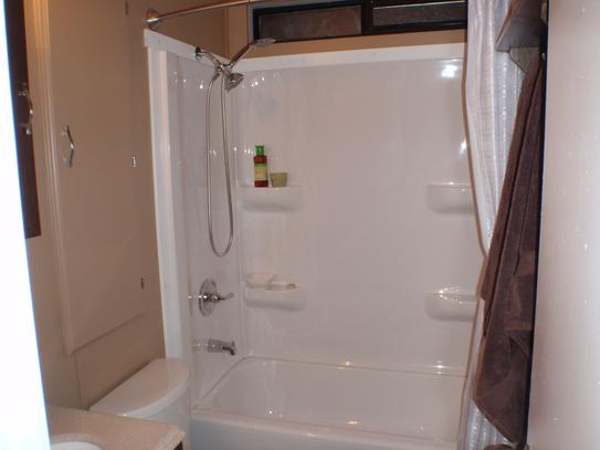 Elite 27 In X 54 In X 59 In 3 Piece Direct To Stud Alcove Tub Wall Kit In White Lescs01275459 At The Home Depot Mobile