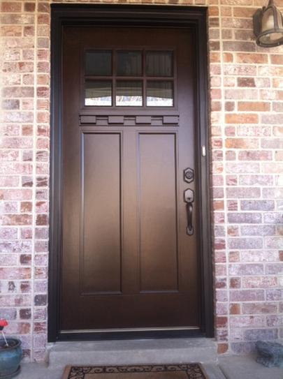 Ordinaire Feather River Doors 37.5 In. X 81.625 In. 6 Lite Craftsman Stained Chestnut  Mahogany Right Hand Inswing Fiberglass Prehung Front Door FF3791 At The  Home ...