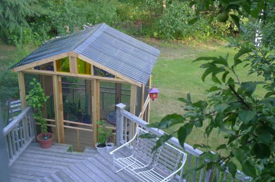 Suntuf 4 ft. Solar Grey Polycarbonate Roof Panel Ridge Cap ...