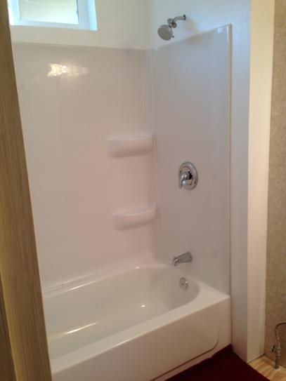 Elite 30 In X 54 In X 59 In 3 Piece Direct To Stud Alcove Tub Wall Kit In White Lescs01305459 At The Home Depot Mobile