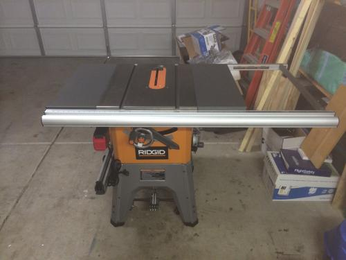 Ridgid 13 amp 10 in professional cast iron table saw r4512 at the customer images 14 greentooth Choice Image
