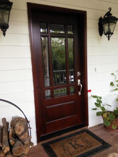 Steves Sons 36 In X 80 In Craftsman 9 Lite Stained Mahogany Wood