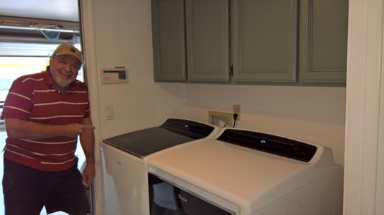 Cabrio washer and dryer units, installed and running.