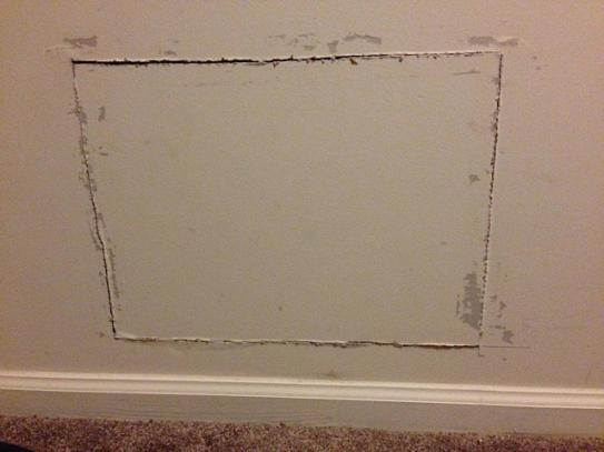 wallboard to be repaired