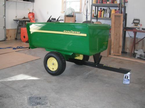 John Deere 1 650 Lb 18 Cu Ft Tow Behind Steel Utility Cart Hdc