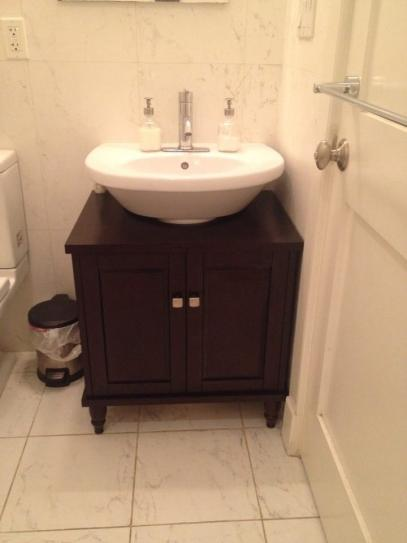 D Vanity Cabinet Only For Pedestal Sinks In Espresso Lpv 25rp Rles At The Home Depot Mobile