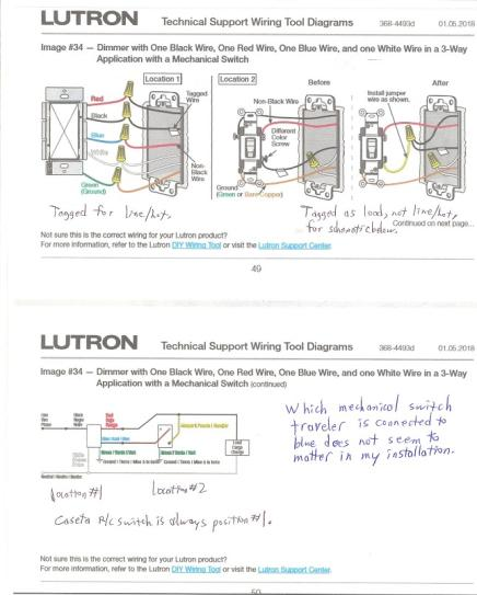 Lutron 3 Way Dimmer Switch Wiring Diagram