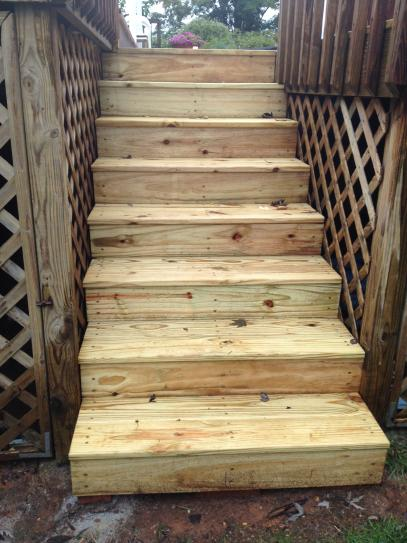 6 Step Pressure Treated Pine Stair Stringer 106072 At The Home Depot    Mobile