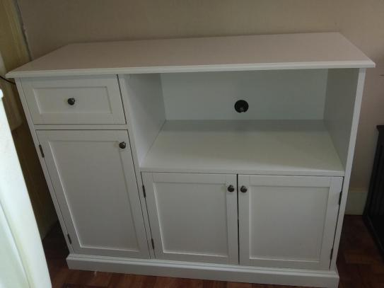Stylewell Stylewell Ivory Wood Transitional Kitchen Pantry 46 In W X 36 In H Sk19312br1 V The Home Depot