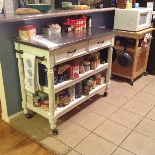 Home Styles Savannah White Kitchen Cart With Stainless Top 5219 95 At The  Home Depot   Mobile