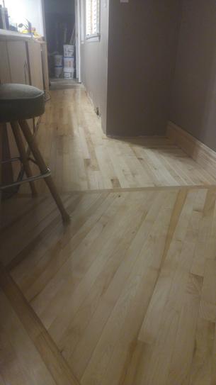 Maple Floor in Bar area