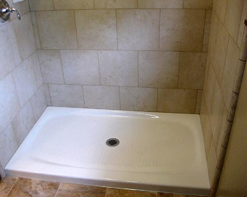 Kohler Salient 60 In X 36 Cast Iron Single Threshold Shower Base White K 9055 0 At The Home Depot Mobile
