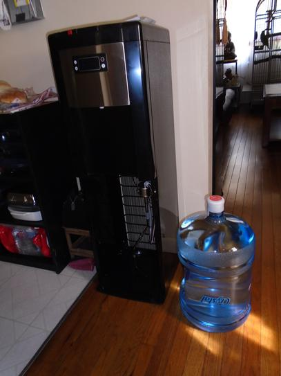 Glacier bay hot, room and cold water dispenser in black and.