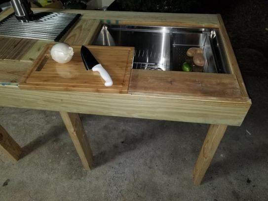 Nice Deep stainless steel sink with a bottom grid.