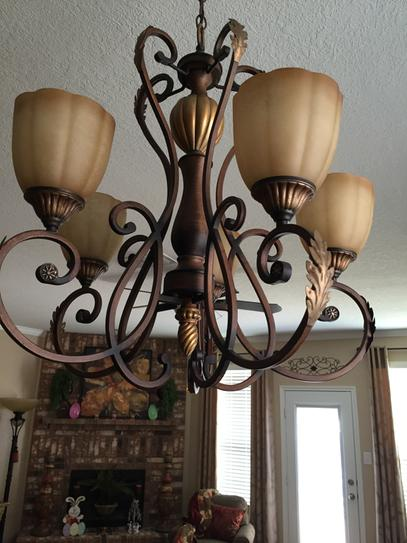 Hampton Bay Chateau Deville 3light Walnut Bath Light T