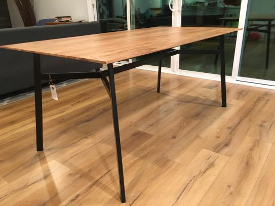 Reviews For Home Decorators Collection Halford Pecan Brown Finish Round Dining Table For 4 With Black Metal Base 46 3 In L X 30 In H Bt0283d The Home Depot