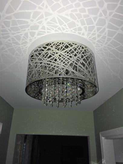 Home decorators collection 15 75 in 7 light stainless steel flushmount with laser cut mirrored shade and crystal drops 16651 at the home depot mobile