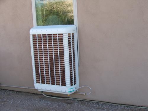 Line Rental Saver >> MasterCool 3200 CFM Slim Profile Window Evaporative Cooler for 1600 sq. ft. MCP44 at The Home ...