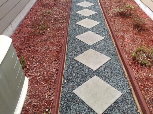 vigoro ecoborder 4 ft grey rubber landscape edging 6 pack ecobrd