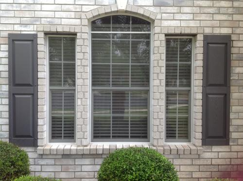 Raised Panel Vinyl Exterior Shutters Pair In 002 Black 030140059002 At The Home Depot Mobile