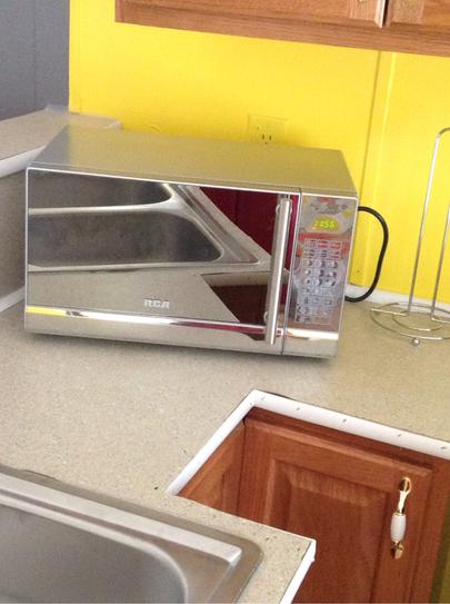 Rca 07 Cu Ft Countertop Microwave In Stainless Steel Rmw741 At