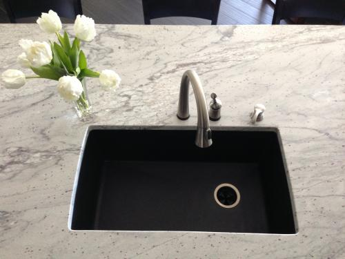 Blanco Diamond Dual Mount Granite 33 In. 1 Hole Single Bowl Kitchen Sink In  Anthracite 440194   The Home Depot