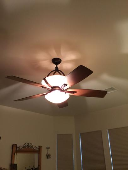 Hampton Bay Miramar 60 In Indoor Weathered Bronze Ceiling