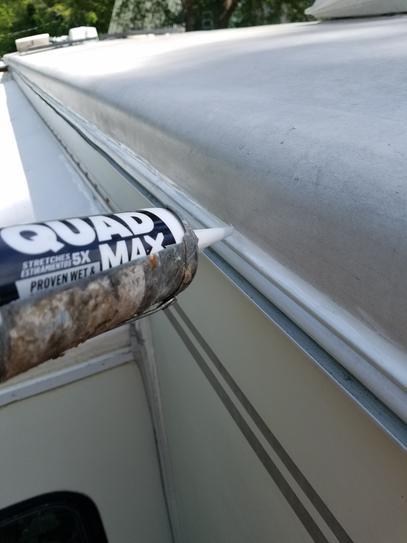 Using quad max on RV gutter system