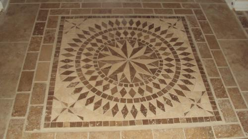 Msi Del Sol Medallion 36 In X Travertine Floor And Wall Tile Smot Med Traver At The Home Depot Mobile