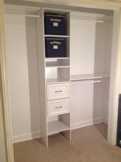 Closetmaid Selectives 14 625 In D X 16 875 W 82 5 H White Custom Laminate Closet System Organizer 7032 At The Home Depot Mobile