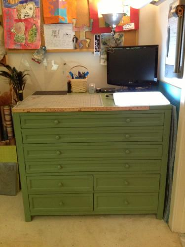 Martha Stewart Living Craft Space 42 In. W 8 Drawer Flat File Cabinet In  Silhouette 8607100210 At The Home Depot   Mobile