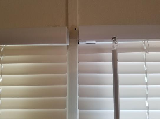alabaster cordless 1 in vinyl mini blind 35 in w x 72 in l201504022 the home depot