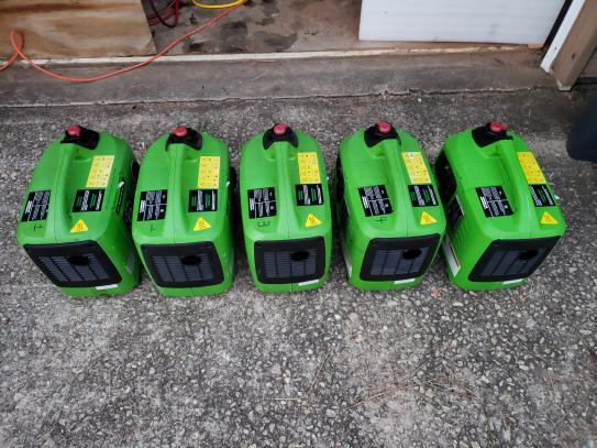 Five generators in a row.