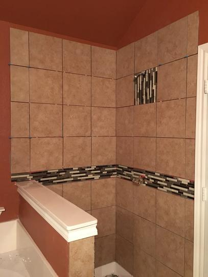 Daltile Catalina Canyon Noce In X In Porcelain Floor And - 12x12 tile shower walls