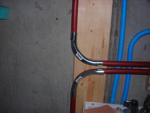 Customer Images (2). Sharkbite PEX pipe bend. & 3/4 in. Metal PEX Pipe 90-Degree Bend Support 23054 at The Home ...