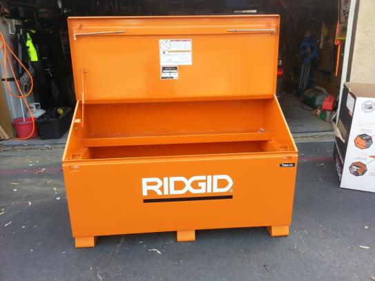 ridgid 60 in. x 37 in. jobsite storage chest 3068-os at the home ...